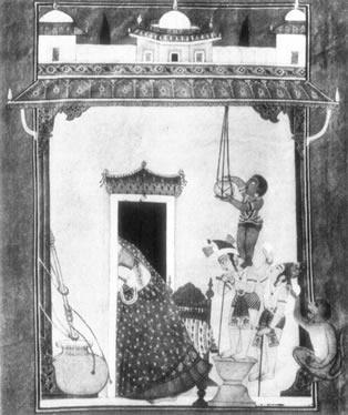 krishna stealing butter - bhagavata 1700