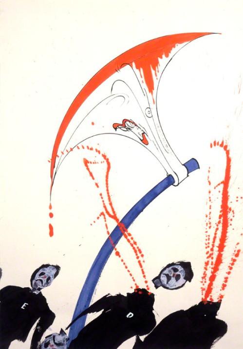 NPG 6476; Margaret Hilda Thatcher (nÈe Roberts), Baroness Thatcher by Gerald Scarfe