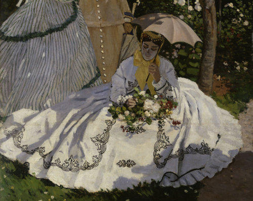 Claude Monet Women in the garden detail